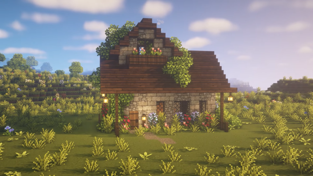 Starter House Fairy Cottage Aesthetic Minecraft Survival Singleplayer