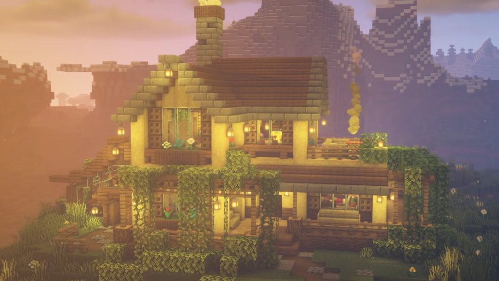 Survival Base Fairy Aesthetic Minecraft Design