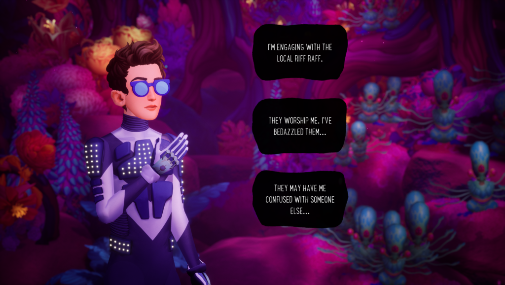 Dialogue Options in The Artful Escape
