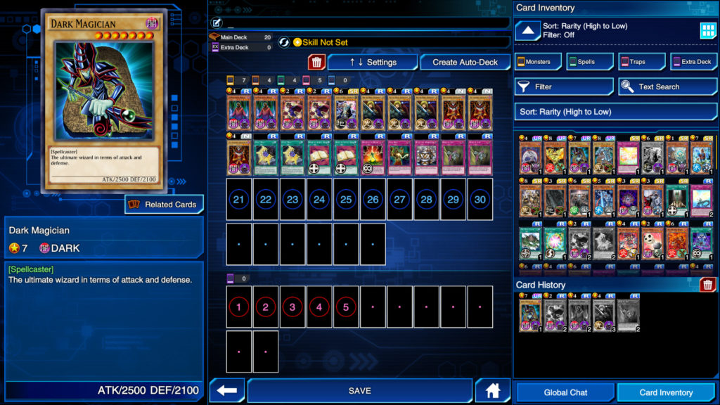 Creating a deck in Yu-Gi-Oh! Duel Links