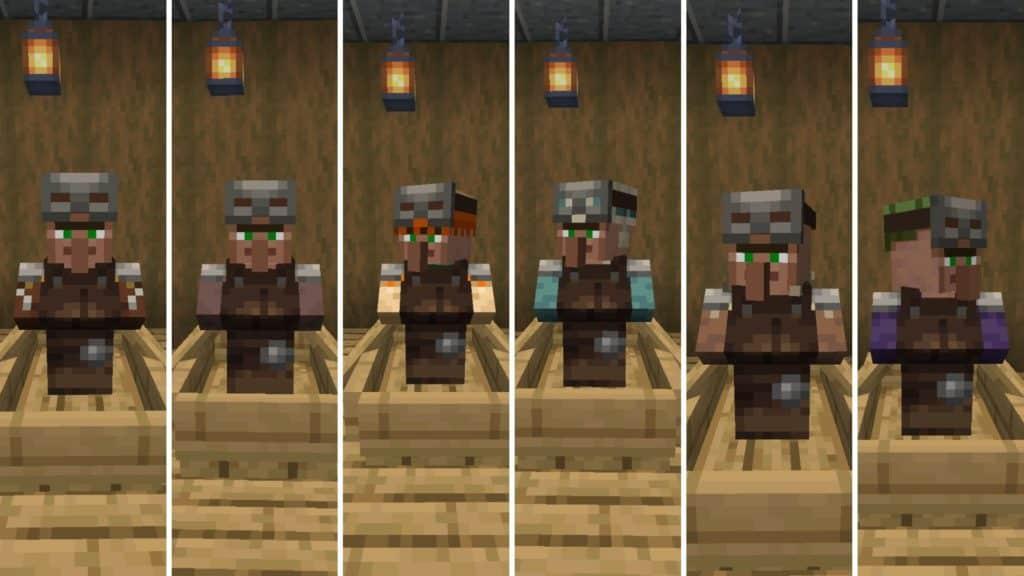 a villager with a job as an armorer