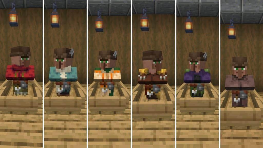 a villager with a job as an fletcher