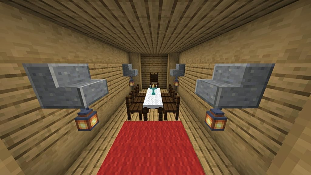Minecraft Data Pack Tables and Chairs